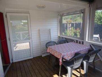 Camping les Grissotières location Mobil home terrasse