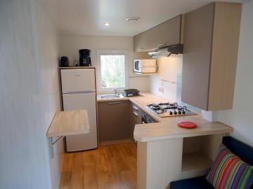 Location Mobil home Francis Drake cuisine Camping les Grissotières