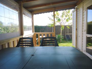 Location mobil home Camping Grossières Terrasse