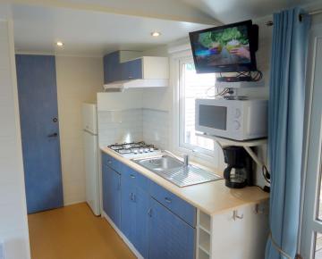 Location mobil home Camping Grissotières cuisine