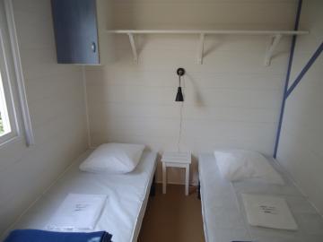 Location mobil home Camping Grissotières chambre 2 deux lits 80/190