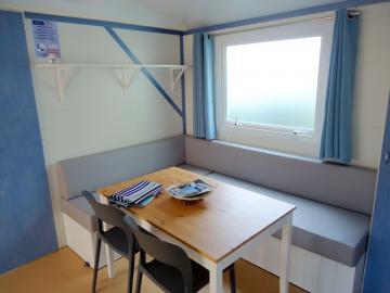 Location mobil home Camping Grissotières salon