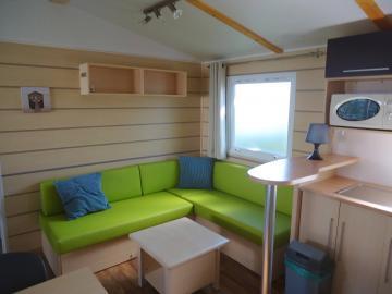 Camping les Grissotières location Mobil home salon