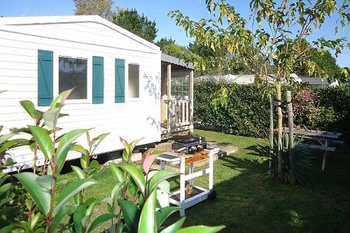 Campsite les grissotières rental mobile home Jack Rachkam with big garden
